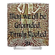 Firmly Rooted Shower Curtain