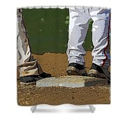 First Base Shower Curtain