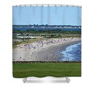 First Beach Newport Ri Shower Curtain