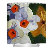 First Blooms Shower Curtain