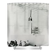 First Cape Canaveral Rocket Launch Shower Curtain