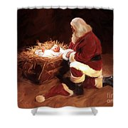 First Christmas Shower Curtain
