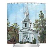First Church Sandwich Ma Shower Curtain