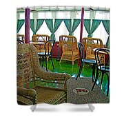 First Class Lounge In S S Klondike On Yukon River In Whitehorse-yt Shower Curtain