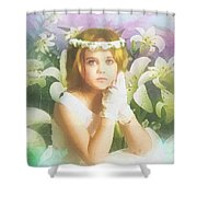 First Communion Shower Curtain