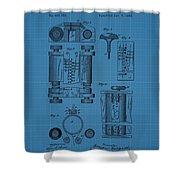 First Computer Blueprint Patent Shower Curtain