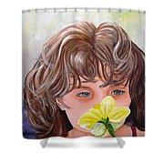 First Daffodil Shower Curtain
