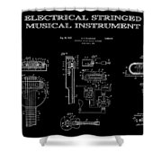 First Electric Guitar 2 Patent Art  1937 Shower Curtain