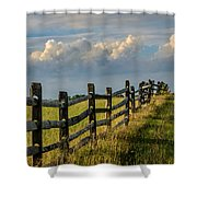First Fence Shower Curtain