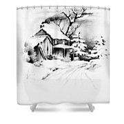 First House Shower Curtain