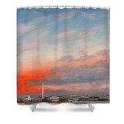 Obama Inaugural Sunrise 1 Shower Curtain