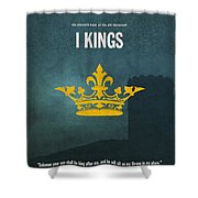 First Kings Books Of The Bible Series Old Testament Minimal Poster Art Number 11 Shower Curtain by Design Turnpike