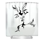 First Kiss Shower Curtain