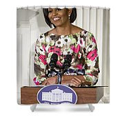 First Lady Michelle Obama Shower Curtain