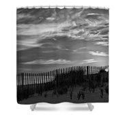 First Light At Cape Cod Beach Bw Shower Curtain
