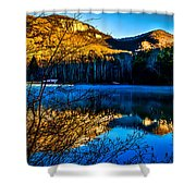 First Light At Pinnacle Lake Shower Curtain