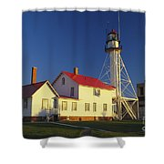 First Light At Whitefish Point Shower Curtain