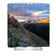 First Light On The Mountain Shower Curtain