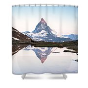 First Light On The Summit Of Matterhorn Shower Curtain