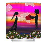 First Love Shower Curtain by Lady Ex