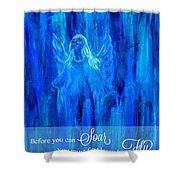 First Love Yourself Shower Curtain