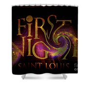 First Night St. Louis In Space Shower Curtain