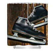 First Pair Of Ice Skates Shower Curtain