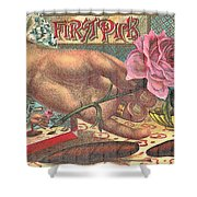 First Pick Cigar Label Shower Curtain