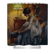 First Primers Shower Curtain by Delphin Enjolras
