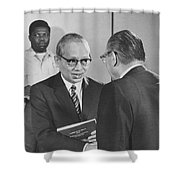 First Recorded Peace Treaty Shower Curtain