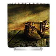 First Shoes Shower Curtain by Veikko Suikkanen
