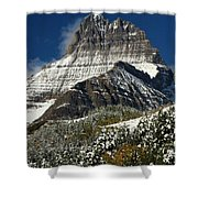 First Snow At Mount Wilbur  Shower Curtain