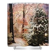 First Snow Shower Curtain