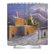 First Snow Shower Curtain by Jerry McElroy