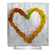 First Snow Love Shower Curtain