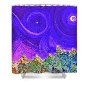 First Star Sunrise Shower Curtain