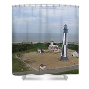 First State Landing  Lighthouse Shower Curtain