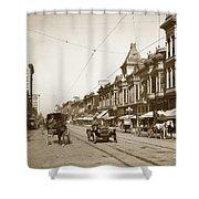 First Street Downtown San Jose California Circa 1905 Shower Curtain