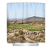 First Tee Shower Curtain
