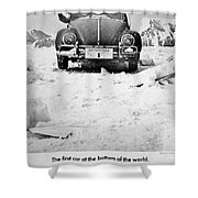 First To The Bottom Shower Curtain