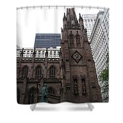 First Trinity Church Nyc Shower Curtain