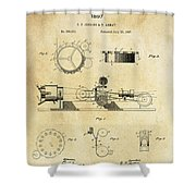 First True Motion Picture Projector Patent  1897 Shower Curtain