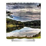 First View Shower Curtain