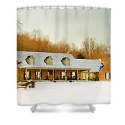 First Winter Snow Shower Curtain