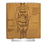 First World War Cyclist Shower Curtain