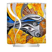 Fish 0465 - Marucii Shower Curtain
