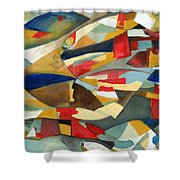 Fish 1 Shower Curtain by Danielle Nelisse