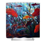 Fish Chatter Shower Curtain