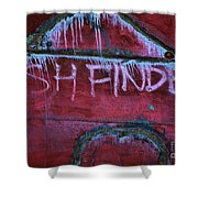 Fish Finder Shower Curtain