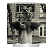 Fish Fountain Cologne Shower Curtain